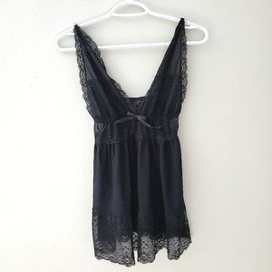 **2/$30** Black Lace and Mesh Babydoll